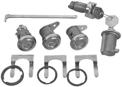 1958 Impala Ignition, Door, Glovebox & Trunk Original-style Lock Kit w/Short Cyl