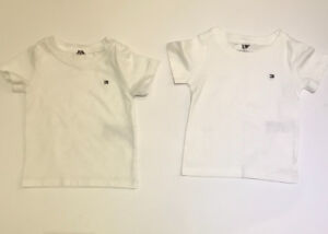 Tommy Hilfiger white tees 6 to 9 months at a great price!