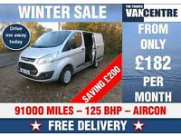 FORD TRANSIT CUSTOM 310 L1 H1 SWB TREND 125 BHP AIR CON WAS £9670 SAVE £200
