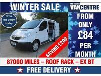 VAUXHALL VIVARO SWB 2700 1.9 CDTI EX BT SIDE DOOR ROOF RACK WAS £4470 SAVE £200