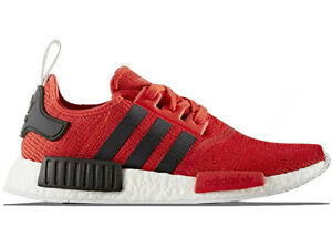 Adidas NMD R1 Red Black PK Prime Knit Men's 9.5 Brand-New