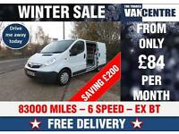VAUXHALL VIVARO 2900 SWB 1.9 CDTI EX BT RACKING WAS £4470 SAVE £200