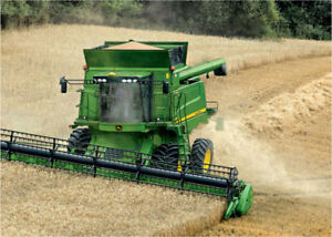 Straw Wanted behind combine