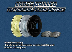 Performance Brakes Cross Drilled Rotors and Pads