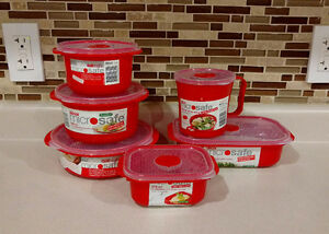 BRAND NEW Decor 12 Piece Microwave Safe Containers BPA Free $45+