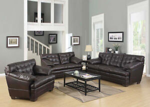 ULTRA PLUSH Bonded Leather SOFA + LOVE @ Yvonne's Furniture