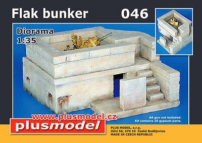 PLUS MODEL #046 Flak Bunker aus Gips für Diorama in 1:35