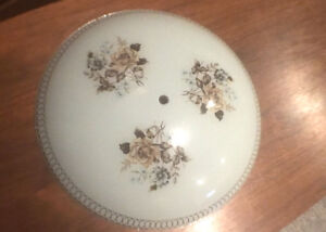 Vintage 60's ceiling light glass lamp shade