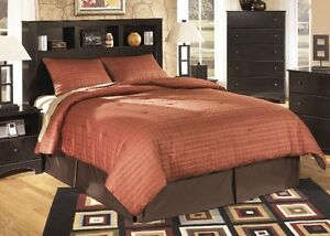 ASHLEY FURNITURE KENDI BOOKCASE QUEEN BED - DISPLAY $395