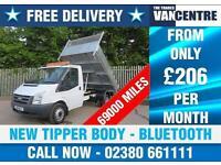 FORD TRANSIT 350 2.4 MWB 1 WAY TIPPER 115 BHP NEW TIPPER BODY 6 SPEED