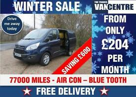 FORD TRANSIT CUSTOM 270 SWB LIMITED L1 H1 6 SPEED 125 BHP WAS £11270 SAVE £600