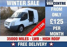 FORD TRANSIT 350 LWB HIGH ROOF 2.4 TDCI BLUETOOTH WAS £7000 SAVE £530