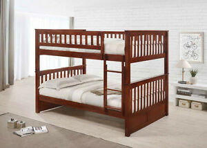 Double over Double Hardwood Bunk Bed -by Bunk Beds Canada