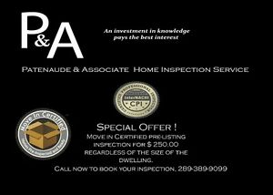 $ 300.00 flat rate Certified Home Inspection