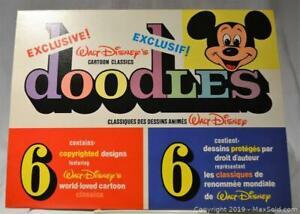 Vintage Walt Disney CARTOON CLASSICS doodles. Package contains 6 designs featuring Walt Disney Classics