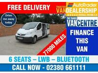VAUXHALL VIVARO 2900 CDTI DOUBLECAB LWB 115 BHP BLUETOOTH 6 SEATS