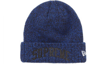 SUPREME NEW ERA ARC LOGO BEANIE BLUE (ROYAL) -$170