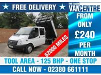 FORD TRANSIT 350 LWB DOUBLE CAB ONE WAY TIPPER 125 BHP 3 SEATS