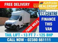 VAUXHALL MOVANO 3500 L3 LUTON LWB 125 BHP TAIL LIFT 13 FT 7 3 SEATS