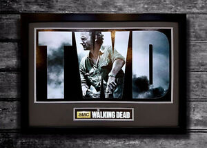 Custom framed Walking Dead poster