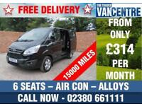 FORD TRANSIT CUSTOM 290 L1 H1 LIMITED DOUBLE CAB SWB 125 BHP AIR CON 6 SEATS