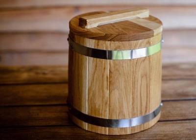5L 1.32Gal Cask Wooden Barrel for Flour Honey Grain Salting Pickles Marinade New