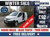 NISSAN NV200 1.5 DCI SE SWB BLUETOOTH TWIN SIDE DOORS WAS £5170 SAVE £500