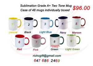 Wholesale 11oz, Blank Two Tone mug Grade A+ with box