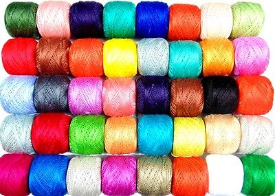 50 x Anchor Crochet Cotton Thread Balls Assorted Colours Sewing Embroidery New
