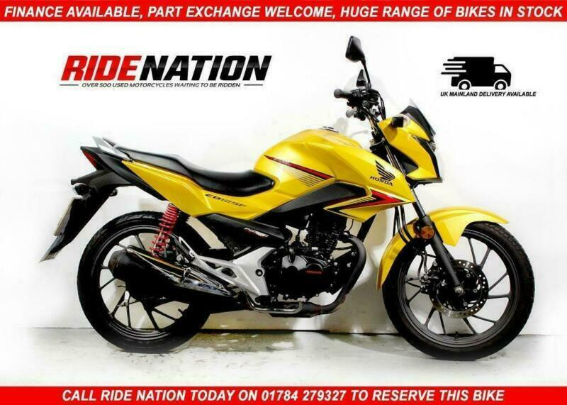 2016 66 Honda CB125F Naked A1 Learner Legal 125cc Yellow 1 Owner   in  Egham, Surrey   Gumtree