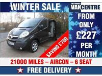 VAUXHALL VIVARO LWB SPORTIVE DOUBLE CAB BLACK 6 SEATS WAS £12470 SAVE £700