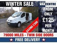 NISSAN PRIMASTAR 2700 SWB SE 115 BHP L1 H1 TWIN SIDE DOORS WAS £6770 SAVE £300