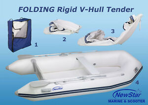 Clearance - RIGID HULL INFLATABLE BOAT IN A BAG - FOLDING  HULL