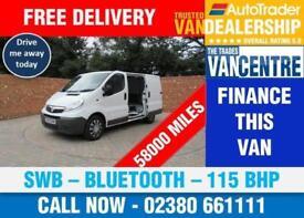 VAUXHALL VIVARO 2900 CDTI SWB 115 BHP BLUETOOTH 3 SEATS