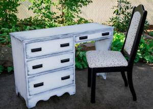 Bureau comptable chaise chêne fraîchement restaurés bureaux