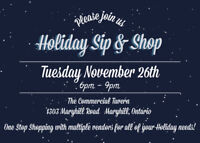 Maryhill Holiday Sip and Shop!!
