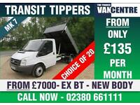 FORD TRANSIT 350 MWB TIPPER 2.4 TD EX BT BRAND NEW BODY LIGHT USE MK7
