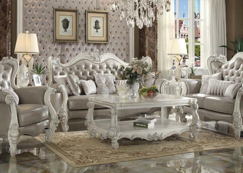 Acme Furniture Versailles Sofa and Loveseat