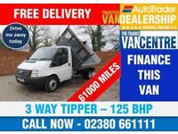 FORD TRANSIT 350 MWB 3 WAY TIPPER 125 BHP 3 SEATS