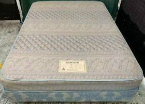 Good condition double bed base with double bed mattress for sale