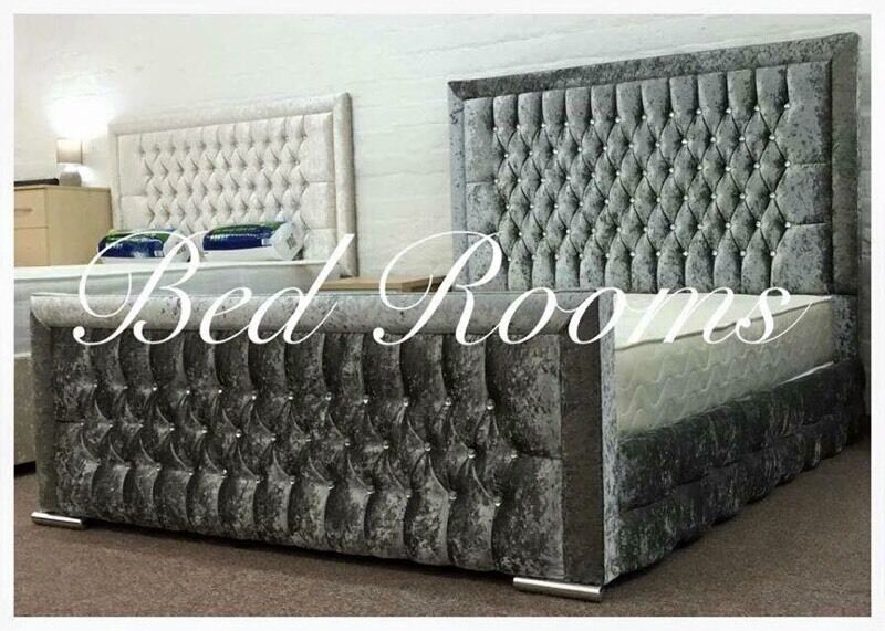 Crushed Velvet High 54 Quot Headboard Princess Bed In West
