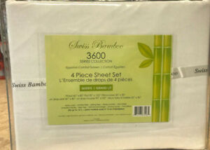 SWISS BAMBOO 3600 THREADS BED SHEET FOR $19.99