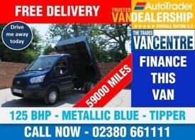 FORD TRANSIT 350 L2 ONE WAY TIPPER MWB 125 BHP METALLIC BLUE 3 SEATS
