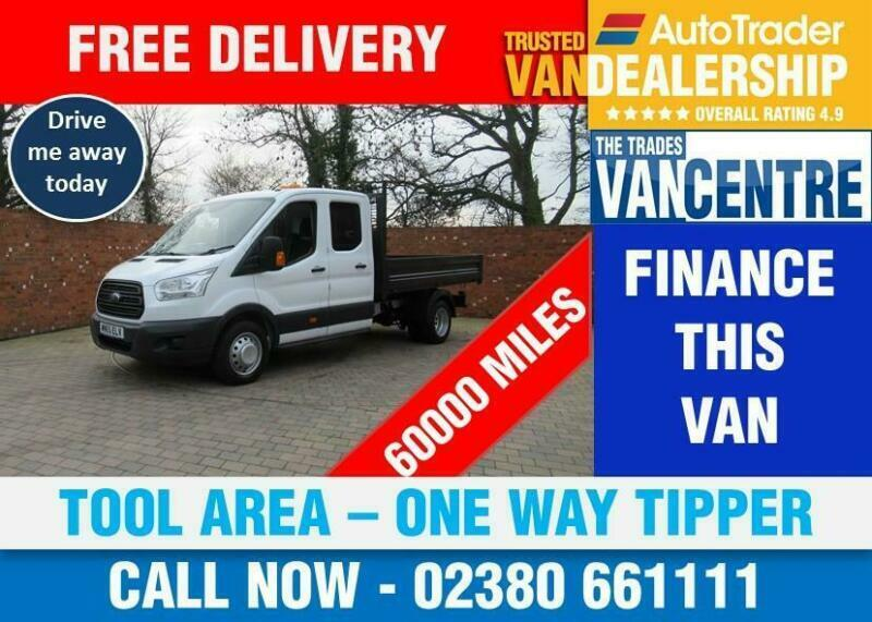 8938a8a950ead0 FORD TRANSIT 350 ONE WAY DOUBLE CAB TIPPER LWB 125 BHP TOOL AREA 3 SEATS
