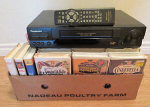 Quality VCR with or without 42 Quality Children VHS Movies