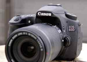Canon 60D with zoom lens