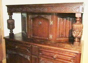Vintage Antique Hutch Cabinet with Secret Compartment. Belgium?