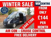 FORD TRANSIT 350 TREND HIGH ROOF MWB 125 BHP AIR CON CRUISE CONTROL 3 SEATS