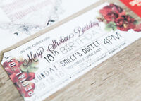 Wedding, Birthday, Baby Shower Invitations and Flyers/posters