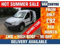 FORD TRANSIT CONNECT LWB HIGH ROOF 1.8 TDCI 90 BHP SIDE LOADING DOOR